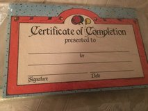 Class set Certificate of Completion in Westmont, Illinois