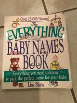 Everything Baby Names Book By L. Shaw in Lockport, Illinois