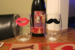 His and Her Stemless Wine Glasses in Pensacola, Florida