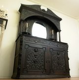 Monumental Antique Hutch Cabinet Renaissance Beautiful Hand Carved Angels! in Ramstein, Germany