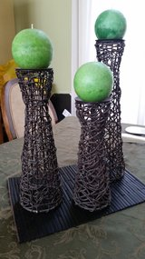 Candle holders in Lockport, Illinois