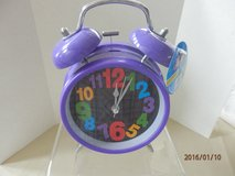 Brand New Purple Battery Operated Clock in Aurora, Illinois