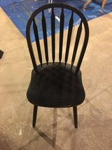 Black desk/dining/general purpose wood chair in New Lenox, Illinois