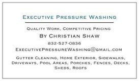 Executive Pressure Washing in Houston, Texas