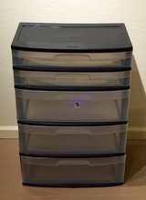 5 DRAWER PLASTIC BIN ON ROLLERS in Yucca Valley, California