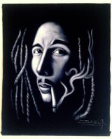 BOB MARLEY VINTAGE OIL PAINTING in Fort Bliss, Texas
