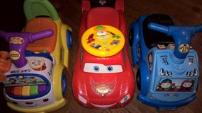 Fisher Price Ride-On Cars Big Hugs Elmo VTech Toy Bundle in Joliet, Illinois