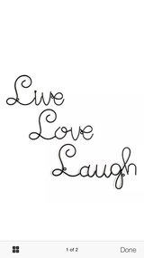 Live,Love, Laugh Deco New in Box in Pleasant View, Tennessee