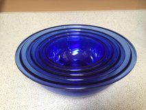 (4) PYREX Cobalt Blue Nesting Bowls in Chicago, Illinois