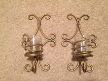 Set of 2 Gold Tealite Sconces in Naperville, Illinois