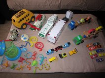 Large toy lot - wooden cars, Hess trucks, trains, frogs! in Jacksonville, Florida