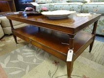 Vintage Leather Topped Coffee/End Tables in Aurora, Illinois
