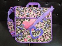 JUSTICE girls pink purple animal print satchel crossbody backpack, book, ipad bag in Aurora, Illinois