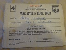 War Ration Book Four 1943 in Glendale Heights, Illinois