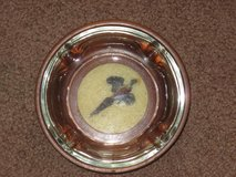 Pheasant wood + glass ashtray in Glendale Heights, Illinois