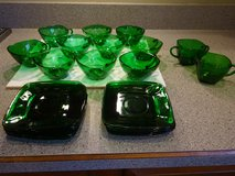 Vintage Forest Green Cups/Saucers in Bartlett, Illinois