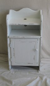 Vintage Shabby White telephone stand in Houston, Texas