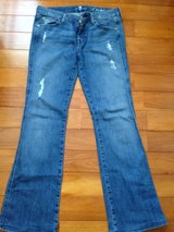 Women's size 29 7 for all mankind jeans worn 2 times in Yongsan, South Korea