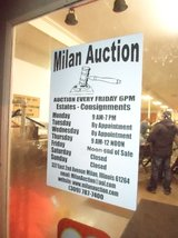 Milan  Auction  Every Friday Night at 6 Pm in Quad Cities, Iowa