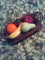 3 Decorative Baskets (ALL FOR $1.00) 1 Nestled Inside The Other & Vibrant Ceramic F... in San Angelo, Texas