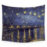 """Vincent Van Gogh Starry Night Over The Rhone Wall Tapestry Small: 51"""" x 60"""" by Art Gallery in Aurora, Illinois"""