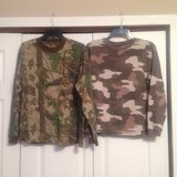 2 Boys camo shirts in Fort Riley, Kansas