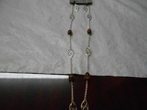 Silver & Brown Necklace & Earrings Set in The Woodlands, Texas
