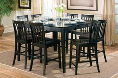 Kitchen Table High Top in Black with 8 chairs in Fort Irwin, California