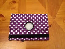 New iPad Air purple polka dot case in Lockport, Illinois