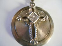"Men's Silver tone heavy metal Necklace w/ Cross  17"" in Phoenix, Arizona"