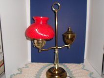 Vintage Colonial Table Lamp Red Glass Globe Electic in Phoenix, Arizona