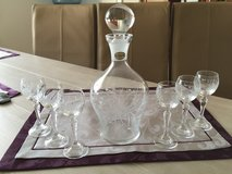 Crystal Decanter with Glasses in Wiesbaden, GE