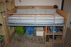 Twin Loft bed with Storage in Fort Bliss, Texas