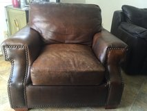 Over sized leather chair in Temecula, California