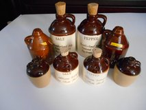 Vintage 4 sets of Salt/Pepper Shakers Pottery Brown Jugs in Phoenix, Arizona