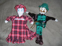 Fao Schwarz Little Red Riding Hood Hand Puppet Characters Lot Grandma & Lumber Jack in Houston, Texas