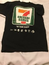 GRENADE GAMES #7 T-SHIRT * USED W/HOLE*  SIZE M in Okinawa, Japan