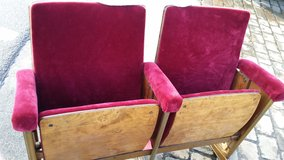 Theater Seat with orginal Red velvet seats in Wiesbaden, GE