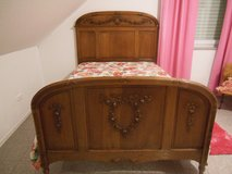 French Carved Bed and Armoire in Ramstein, Germany