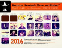 2nd Row! Rodeo tickets in Houston, Texas