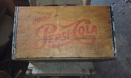 old Pepsi wood crate in Melbourne, Florida