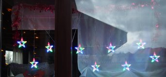 220v Multi Colored Christmas Hanging Stars in Baumholder, GE