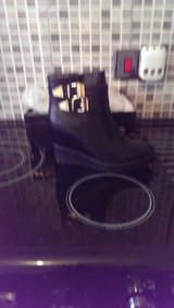 pair of black boots brand new in the box size 5 in Lakenheath, UK