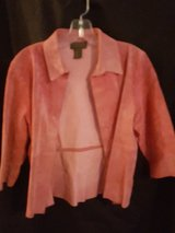 Pink Leather Jacket in Spring, Texas