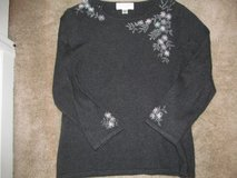 Ladies size L Cashmere sweater with beading in Columbus, Georgia