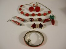 Vintage Jewelry Set of Red Tone Jewelry 8 Pieces in Phoenix, Arizona