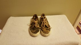 Boys POLO Ralph Lauren Camoflauge Tennis Shoes Size 3 in Fort Knox, Kentucky