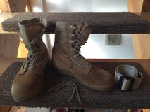 PPU Belleville tan women's military boots size 5.0 regular in Ramstein, Germany