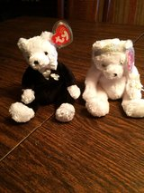bride & groom beanie baby in Naperville, Illinois