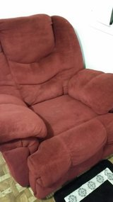 BURGUNDY RECLINER LIKE NEW OBO in Hinesville, Georgia